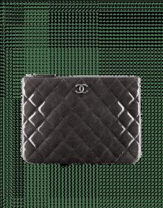 Chanel Gray Patent CC Case - Pre-Fall 2014