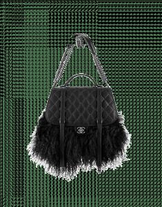 Chanel Large Lambskin Fur Fringe Bag - Prefall 2014