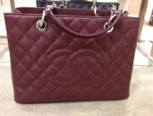 Chanel Maroon GST Bag