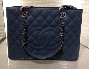 Chanel Navy Blue GST Bag