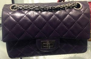 Chanel Purple Aged Reissue Flap Bag - Prefall 2014