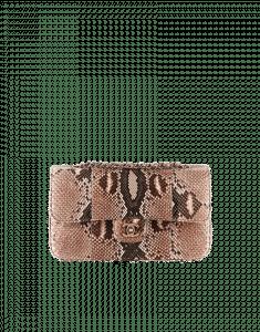 Chanel Python Clutch Timeless Classic Flap Bag - Prefall 2014