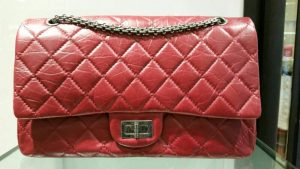 Chanel Red Aged Re-issue Flap Bag - Prefall 2014