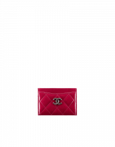 Chanel Red Patent CC Card Holder - Pre-Fall 2014