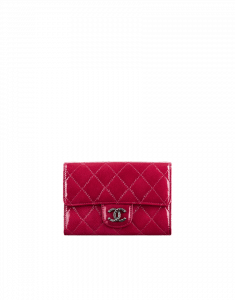 Chanel Red Patent CC Small Wallet - Pre-Fall 2014
