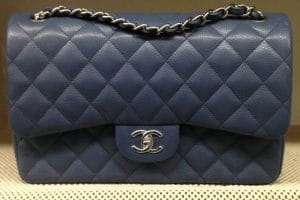 Chanel Navy Blue Jumbo Flap Bag - Prefall 2014