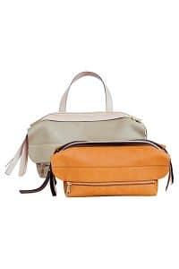 Chloe Baobab Green Dalston Bag:Orange Dalston Clutch Bag - Fall/Winter 2014