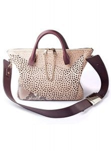 Chloe Beige/Maroon Perforated with Python Baylee Bag - Fall/Winter 2014