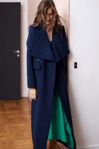 Chloe Blue Long Tailored Coat - Resort 2015