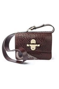 Chloe Brown Perforated with Python Satchel Bag - Fall/Winter 2014