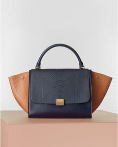Cline Bicolor Camel Python Trapeze bag - Winter 2014