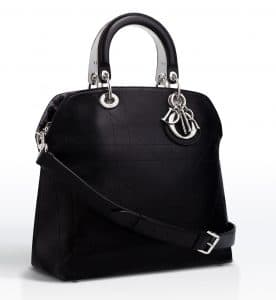 Dior Black with Pony-Effect Lining Granville Tote Bag