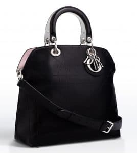 Dior Black with Rose Dragee Lining Granville Tote Bag