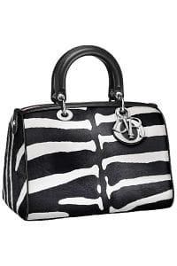 Dior Zebra Print Pony-Effect Granville Polochon Bag