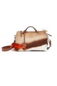 Fendi Beige/Brown Fur By The Way Bag