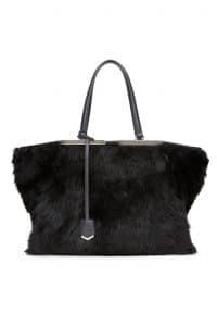 Fendi Black Fur 3Jours Tote Bag