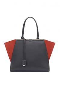 Fendi Black/Cherry Red 3Jours Tote Bag