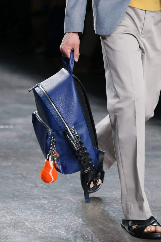 4bd2cc5c88 Fendi Blue with Black Crocodile Tail Backpack Bag - Men s Spring Summer 2015