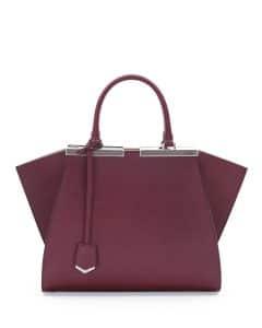 Fendi Bordeaux/Beige 3Jours Mini Bag