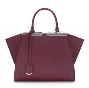 Fendi Bordeaux/Beige Mini 3Jours Bag