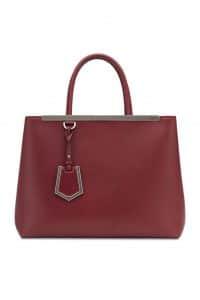 Fendi Cherry Red 2Jours Tote Bag
