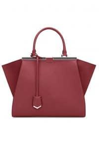 Fendi Cherry Red 3Jours Tote Bag