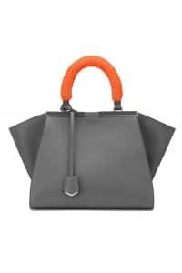 Fendi Gray with Orange Mink Handles 3Jours Mini Bag