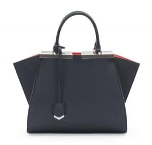 Fendi Navy/Orange 3Jours Mini Bag