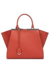 Fendi Orange 3Jours Tote Bag