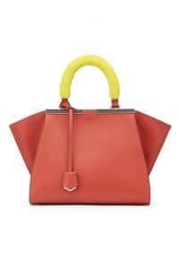 Fendi Orange with Yellow Mink Handles 3Jours Mini Bag