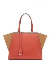 Fendi Orange/Beige 3Jours Tote Bag