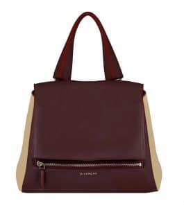 Givenchy Bordeaux/Beige Pandora Pure Medium Bag