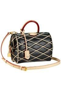 Louis Vuitton Black Losange Doc BB Bag - Fall 2014 - 2