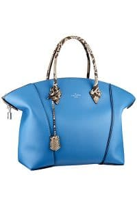 Louis Vuitton Blue New Lockit with Python Handles Bag - Fall 2014