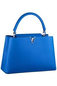 Louis Vuitton Electric Blue Capucine MM Tote Bag - Fall 2014