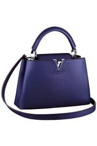 Louis Vuitton Dark Blue Capucines BB Tote Bag - Fall 2014