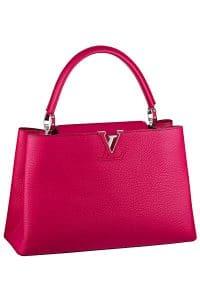Louis Vuitton Fuschia Capucine MM Tote Bag - Fall 2014