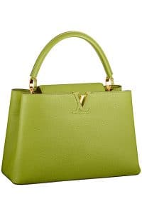 Louis Vuitton Green Pomme Capucine MM Tote Bag - Fall 2014
