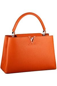 Louis Vuitton Clementine Capucine MM Tote Bag - Fall 2014