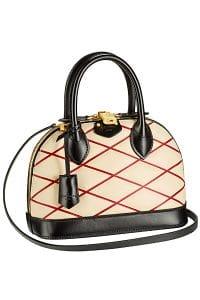 Louis Vuitton Red Losange Alma BB Bag - Fall 2014