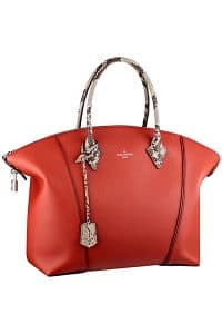 Louis Vuitton Red New Lockit with Python Handles Bag - Fall 2014