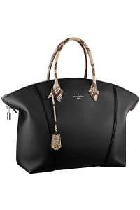 Louis Vuitton Black Soft Lockit with Python Handles Bag - Fall 2014