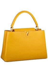 Louis Vuitton Ocre Capucine MM Tote Bag - Fall 2014