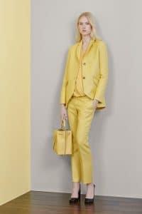 Mulberry Yellow Drawstring Bucket Bag - Resort 2015