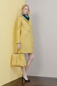 Mulberry Yellow Drawstring Bucket Large Bag - Resort 2015