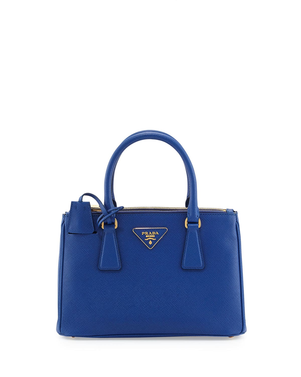 prada blue tote bag