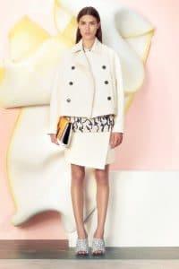 Proenza Schouler White/Yellow Elliot Clutch Bag 3 - Resort 2015