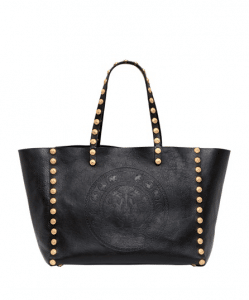 Valentino Black Gryphon Studded Tote Bag