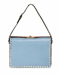 Valentino Blue/Orange Rockstud Shoulder Bag