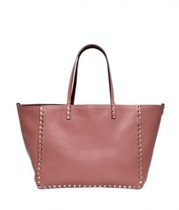 Valentino Blush/Rubin Reversible Rockstud Tote Bag